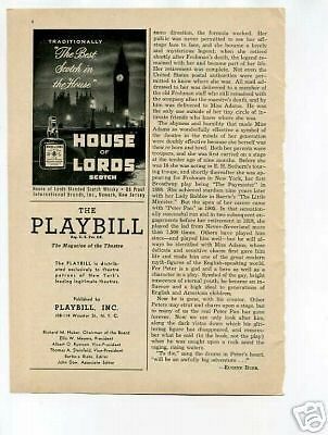 House of Lords Scotch Whisky Ad 1950's Original Ad