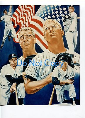 Mickey Mantle Joe DiMaggio NY New York Yankees Glossy 8x10 Photo