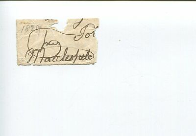 George Parker 4th Earl of Macclesfield 1755-1842 MP Woodstock Signed Autograph