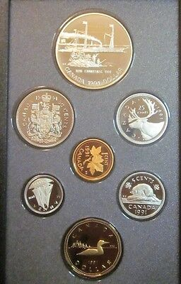 PROOF SET CANADA Double Set 1991 Original Display Case