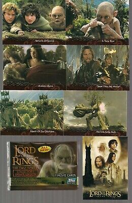 Lord Of The Rings Lotr Two Towers Movie Update Complete 72 Base Card Set W/ Wrap