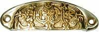 Victorian Cast Brass Bin Drawer Pull   B1313