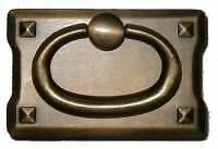 Mission Style Drawer Pull Antiqued Brass  Ad0689