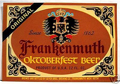 Frankenmuth Oktoberfest  Beer Bottle Label Michigan