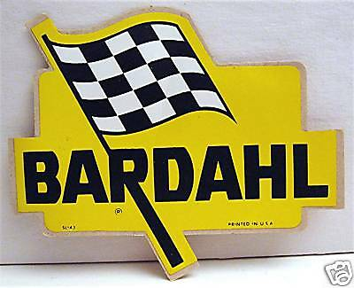 Bardahl Motor Oil Flag Old Peel Off Racing Auto Sticker