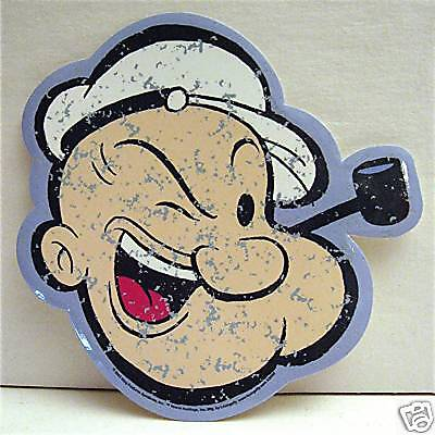Popeye With Pipe Diecut King Features Vinyl Sticker #1