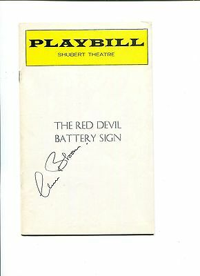 Claire Bloom The Red Devil Battery Sign Broadway Play Signed Autograph Playbill