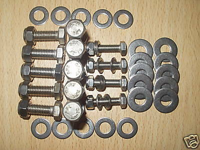 Land Rover Defender & County Stainless Steel Cross  X Member Body  Chassis Bolts