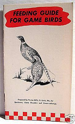Purina Mills 1943 Old Game Bird Feeding Guide St Louis