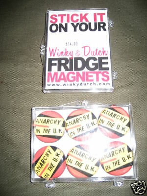 Nos Mgnetic ANARCHY IN THE UK SEX PISTOL Refrigerator Magnets Retro London Punk