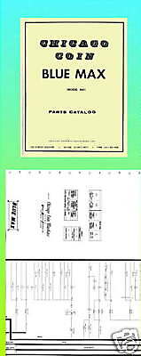 Blue Max 1975 Chicago Coin Manual & Schematic