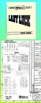 Lady Luck 1976 Recel Pinball Manual & Schematic