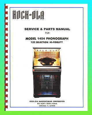 Rock-Ola 1454 Jukebox Service Manual & Schematic