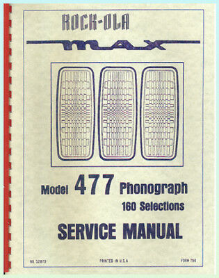 Rock ola 459 service Manual cars