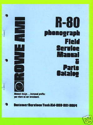 Rowe R-80 Jukebox  Service & Parts Manual