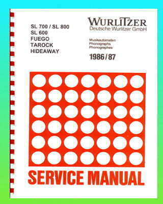 Wurlitzer 1986-7 Jukebox Service & Parts Manual