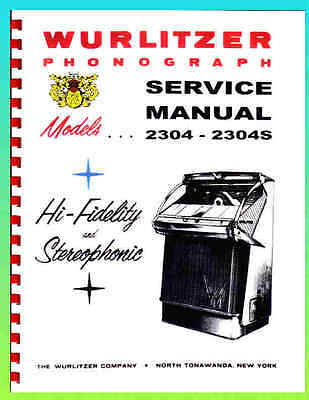 Wurlitzer 2304 2304S Service & Parts Manual