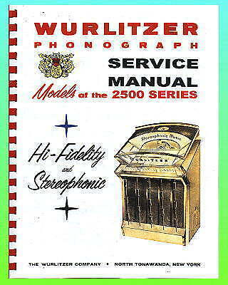 Wurlitzer 2500 Series Service Manual
