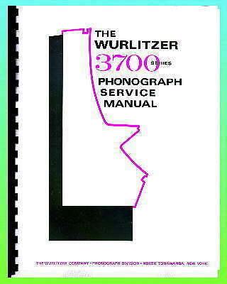 Wurlitzer 3700 Jukebox Service Manual