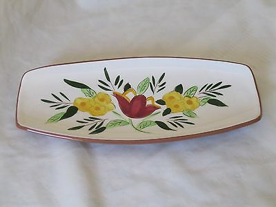 STANGL Country Garden Condiment Tray Brown Mint Cond