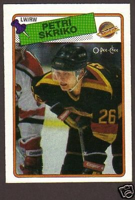 1988-89 OPC Hockey Petri Skriko #137 Canucks NM/MT