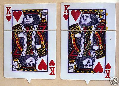 King Hearts Card Flip Top Old Cigarette Lighter Sticker