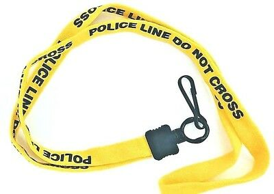 POLICE LINE - DO NOT CROSS Lanyard, neck strap, key holder. Law Enforcement Gift