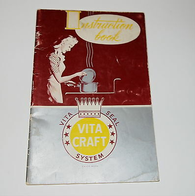 VITA CRAFT SEAL ALUMINUM COOKWARE INSTRUCTION BOOK only
