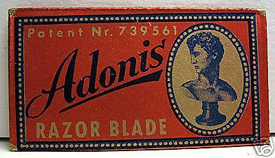 Adonis Old Store Stock Razor Blade Made In Germany