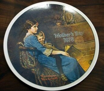 KNOWLES/Rockwell '78 MOTHER's DAY LT Ed Plate - BEDTIME
