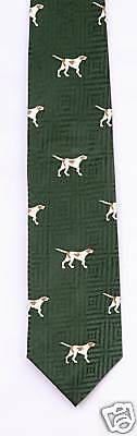 Pointer Silk Tie  German Shorthaired GSP Gun dog Silk Shooting Tie New
