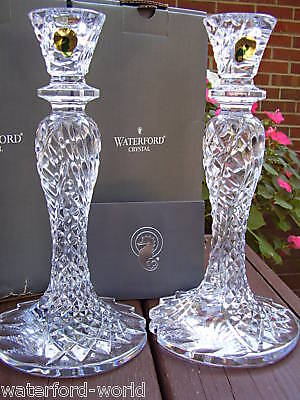 Waterford SEAHORSE ABSTRACT CANDLEHOLDERS CANDLESTICKS
