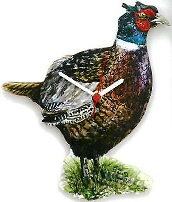 Pheasant Collectable Wooden Wall Clock Shooting Gift