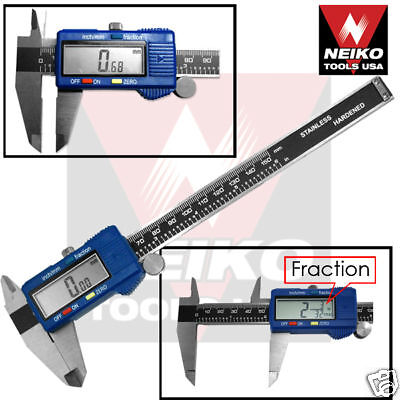 "6"" Digital Caliper Stainless Lcd Screen Neiko Usa"