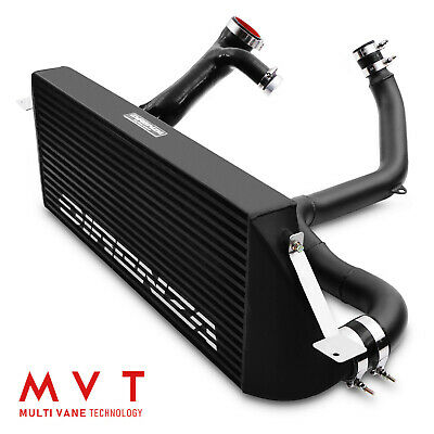 Black Alloy Front Mount Intercooler Fmic Kit For Vw Golf Mk7 R 2.0 Tsi Gtd Gti