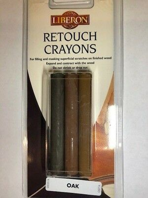 Retouch Crayon Wax Wood & Furniture Repair Sticks Pk 3 Oak Colours