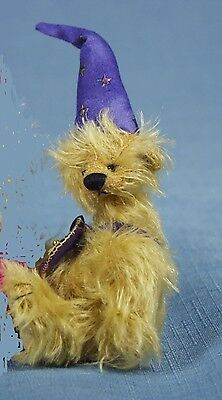 """Deb Canham  """"tricky"""" From Bad Hair Day Collection Miniature Mohair Bear"""