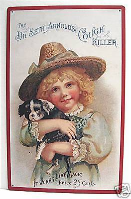Dr Arnolds Cough Killer Rustic Retro Old Style Tin Sign