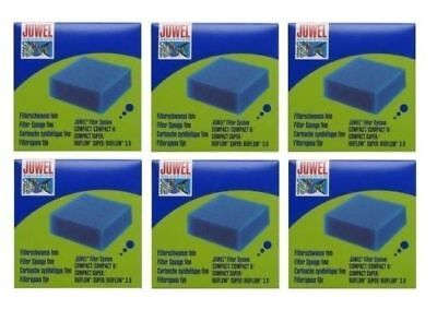 6x BOXES GENUINE JUWEL AQUARIUM COMPACT FILTER SPONGE FINE FOAM MEDIA FISH TANK