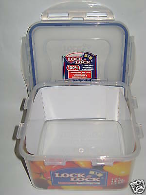 New Lock and & Lock Square 1.2ltr Food Container HPL822D