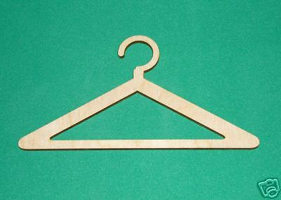 CLOTHES HANGER Unfinished Flat Wood Shapes 2CH2102C