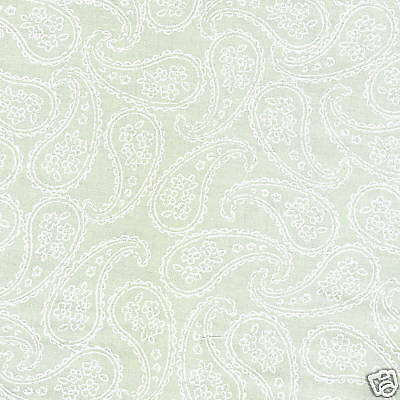BENARTEX By The Yard:  BABY BUNTING GREEN FLORAL TONAL 9301