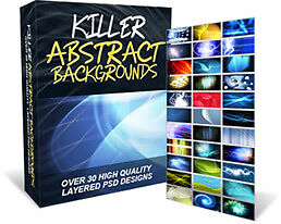 33 Abstract Background Images Design Package on CD