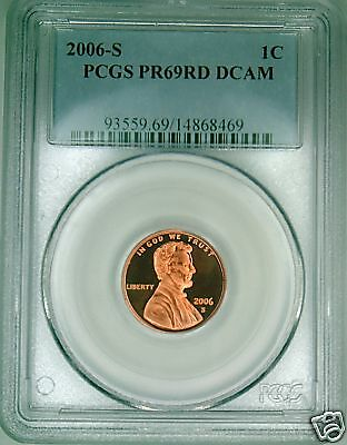 2006-S PCGS PR69DCAM proof Lincoln cent deep cameo red