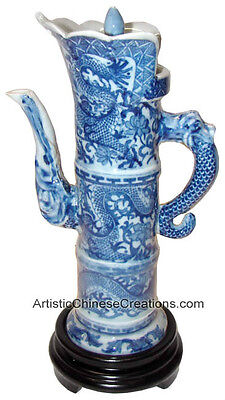 Asian Chinese Art Crafts Decorative Chinese Porcelain Teapot - Dragon Symbol