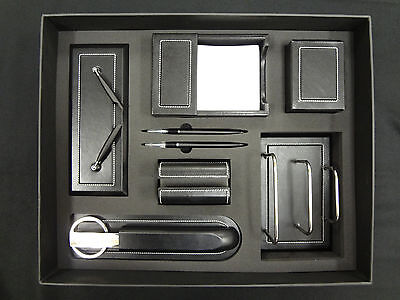 Deluxe Executive Desktop Leather Accessory Gift Set