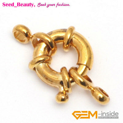 2pcs Gold Plated Spring  Ring Jewelry Clasp 12x14mm