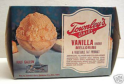 Townley Dairy Vanilla Ice Cream Cont Oklahoma City Ok