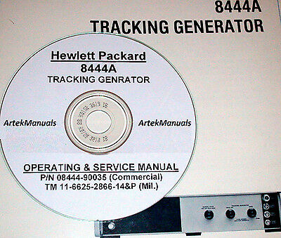 HP 8444A Tracking Generator Ops & Service Manuals (2)
