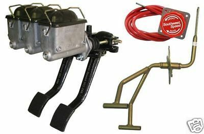 New Racing Brake,Clutch & Gas Pedal Kit W/ Masters,C1